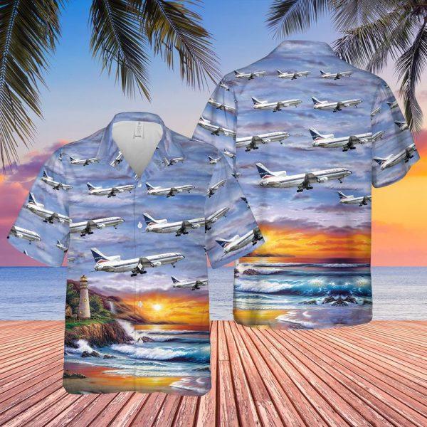 Delta Air Lines Lockheed L 1011 250 Tristar Hawaiian Shirt