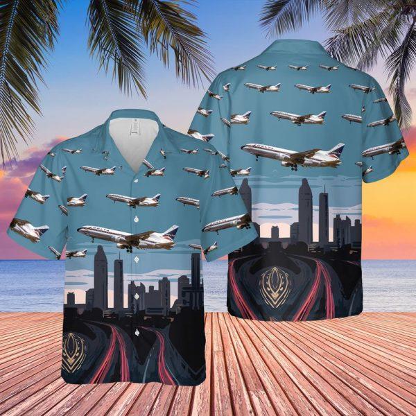 Delta Air Lines Lockheed L1011 500 Tristar Hawaiian Shirt