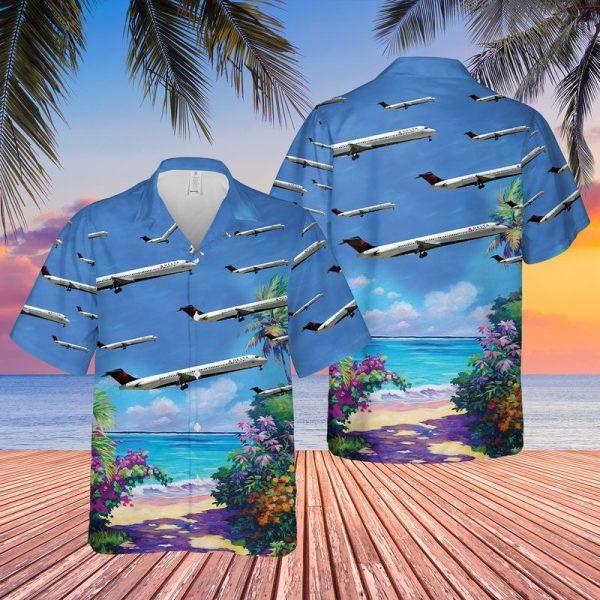Delta Air Lines McDonnell Douglas MD 88 Hawaiian Shirt