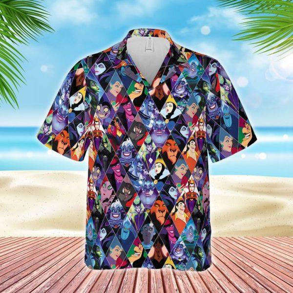 Disney Villains characters hawaiian shirt