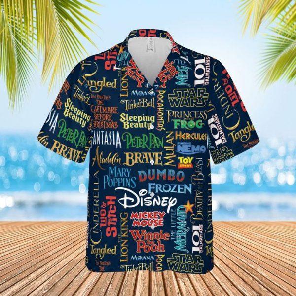 Disney film hawaiian shirt