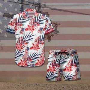 Dont Mess With Veterans Hawaiian Shirt And Short