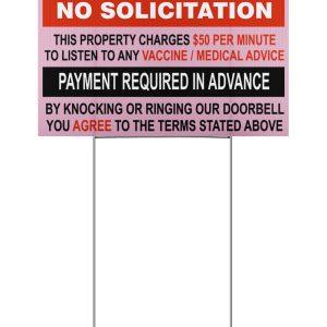 Door Knockers No Solicitation Yard Signs
