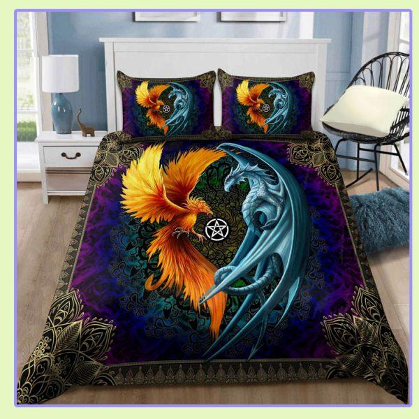 Dragon and Phoenix Bedding Set1