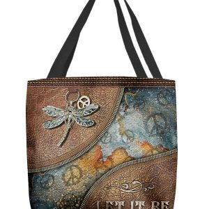 Dragonfly Let It Be Tote Bag
