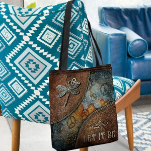 Dragonfly Let It Be Tote Bag1