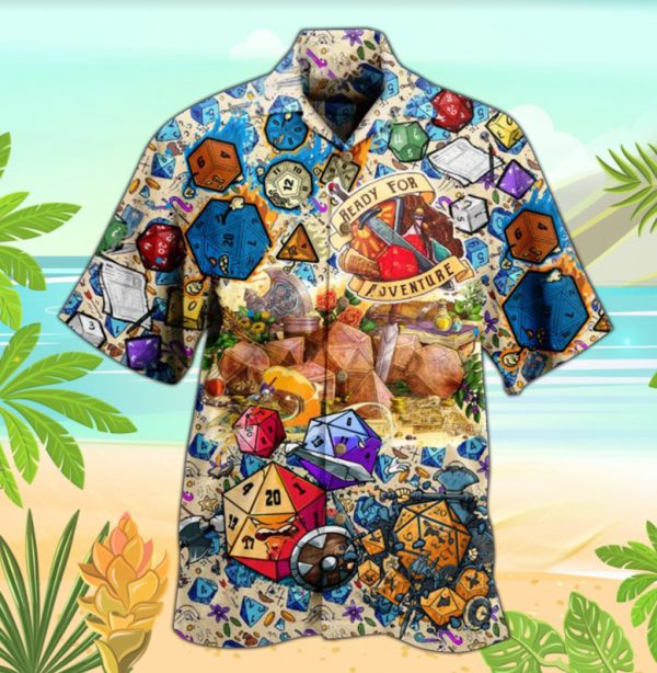 Dungeons and dragons ready for aventure hawaiian shirt