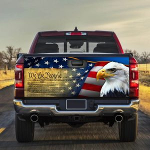 Eagle Patriotic eagle we the people Truck Tailgate Decal