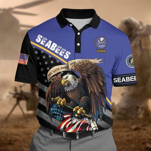 Eagle Seabees Veteran Veteran Force All Gave Some Some Gave All Polo Shirt 1