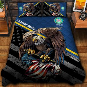 Eagle U.S Coast Guard Veteran Veteran Force All Gave Some Some Gave All And Bedding Set