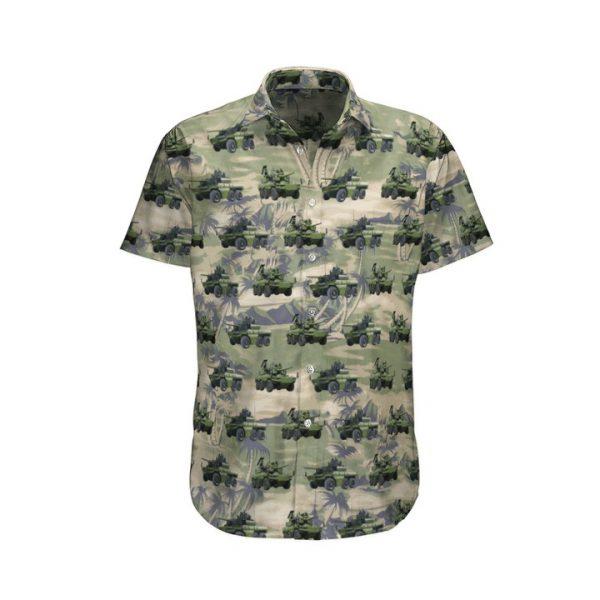 Ebrc Jaguar French Army Hawaiian Shirt And Shorts