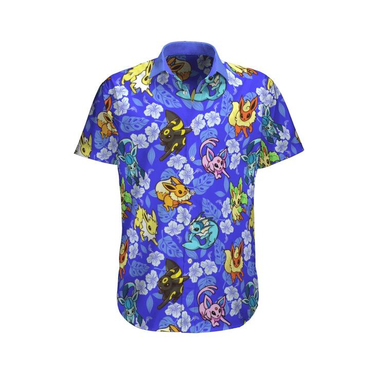 Eevee Pokemon Hawaiian Shirt