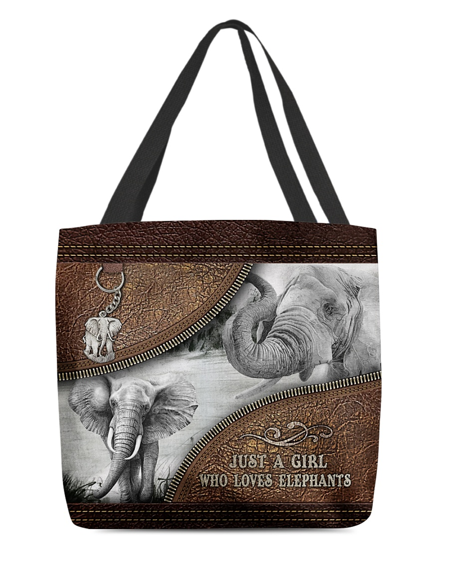 Elephant Just A Girl Who Loves Tote Bag 1