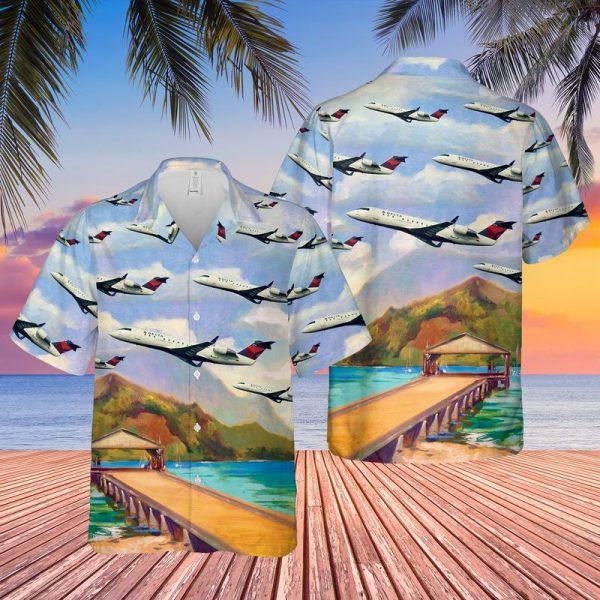 Endeavor Air Bombardier CRJ 200ER Hawaiian Shirt