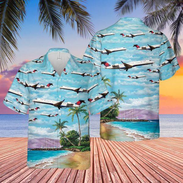 Endeavor Air Bombardier Crj701er Hawaiian Shirt