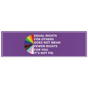Equal Rights For Others Does Not Mean Fewer Rights For You Its Not Pie Bumper Sticker