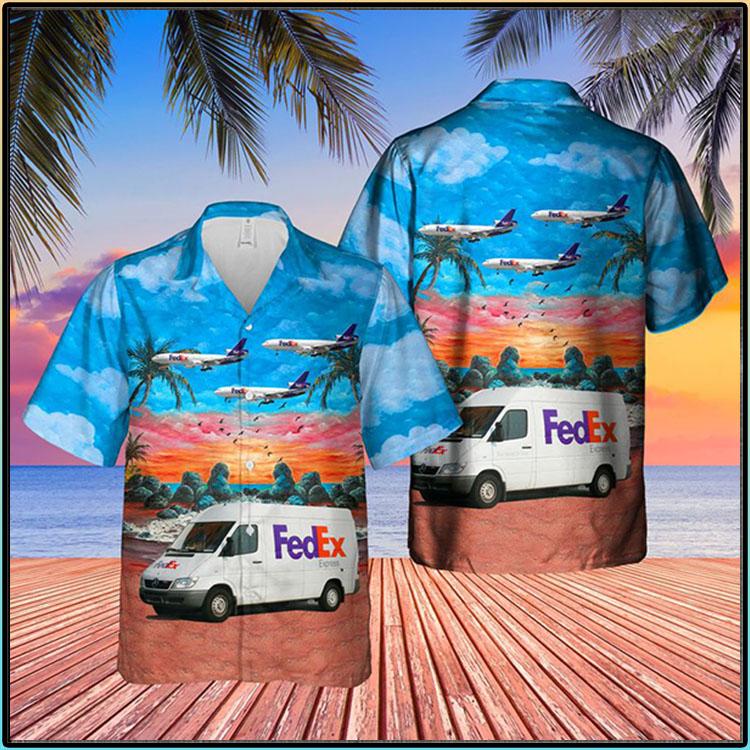 FedEx Express Delivery Van Hawaiian Shirt1