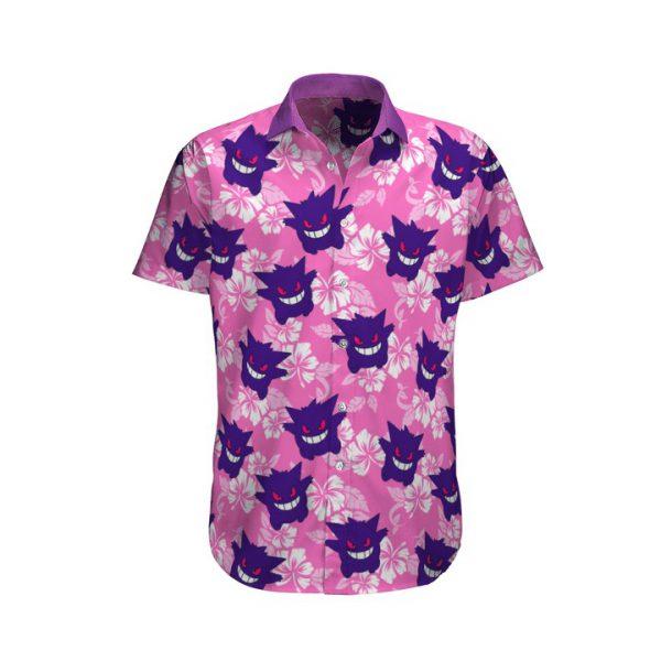 Gengar Pokemon Hawaiian Shirt