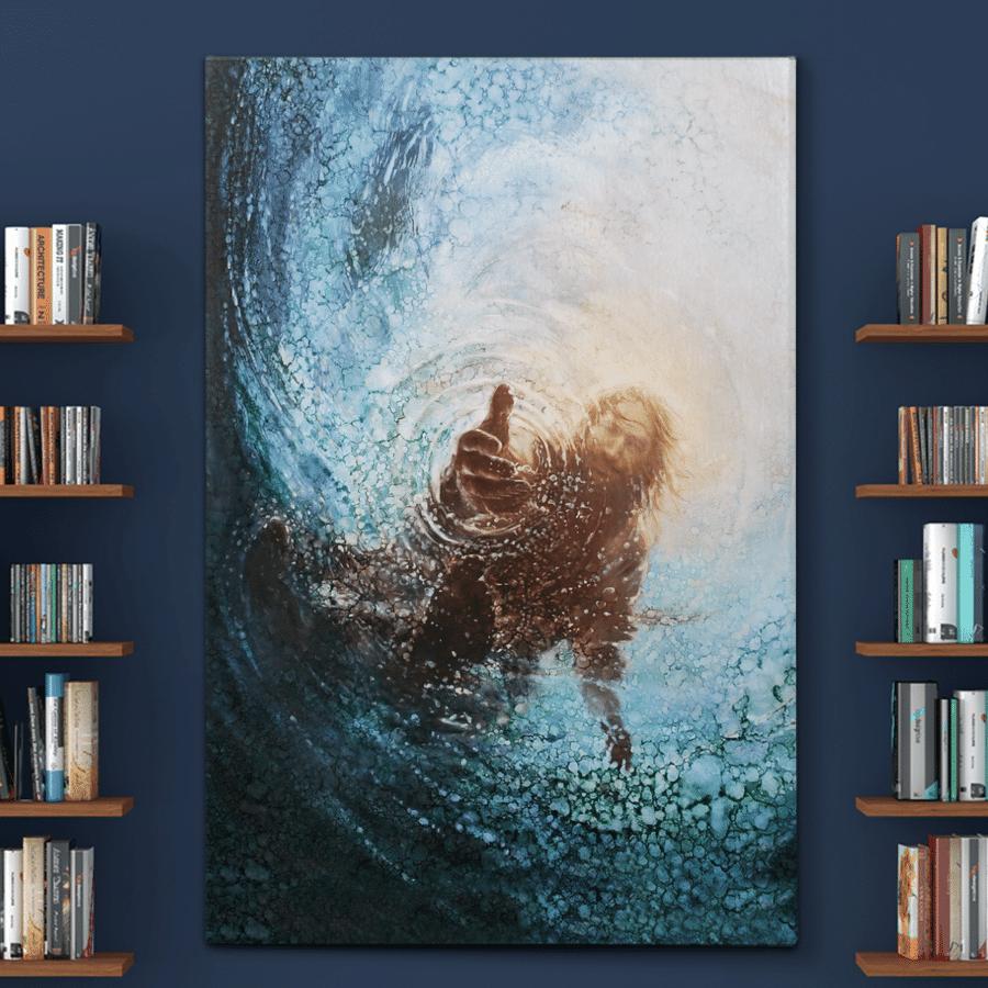 God gives hand jesus poster