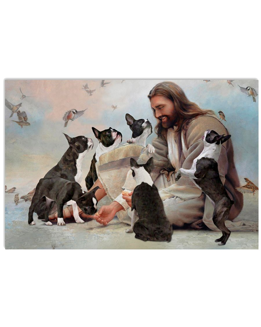 God surrounded by Boston Terrier angels Gift for you Poster