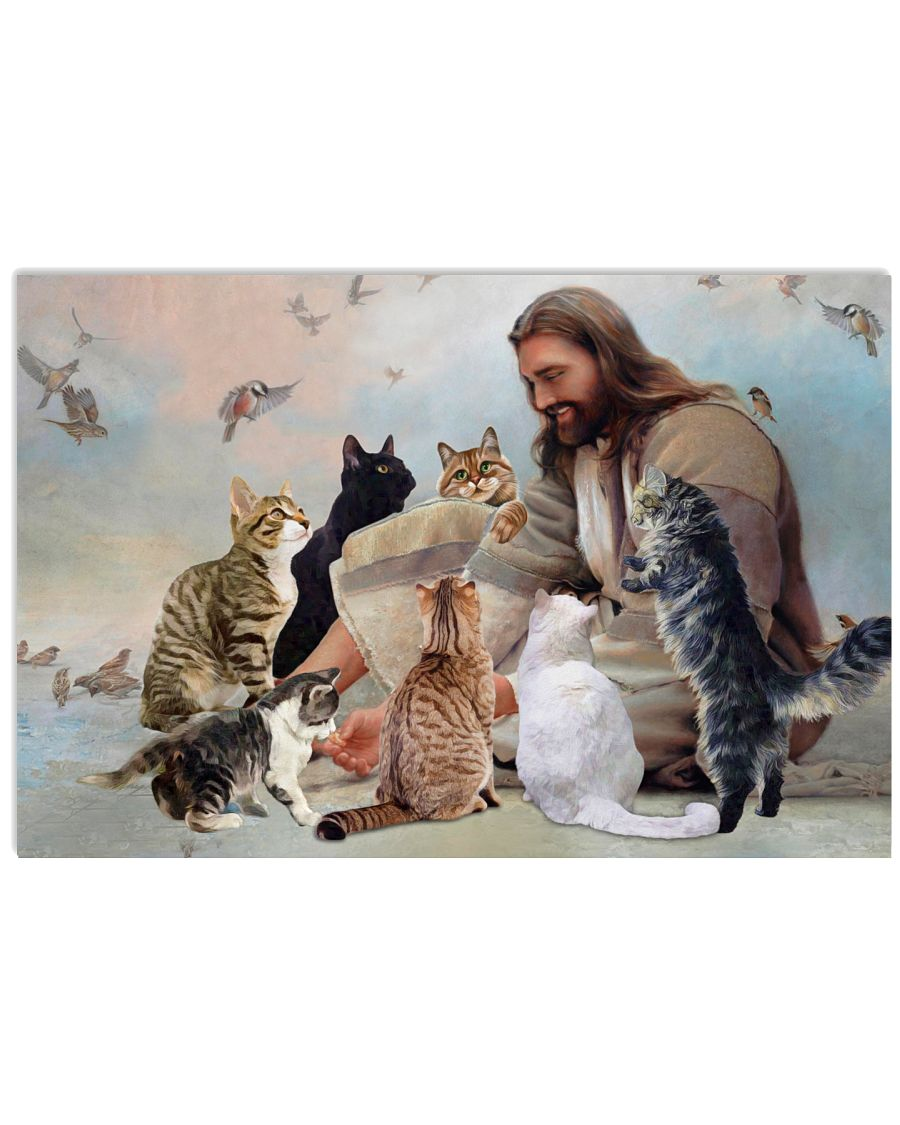 God surrounded by Cats angels Gift for you Poster