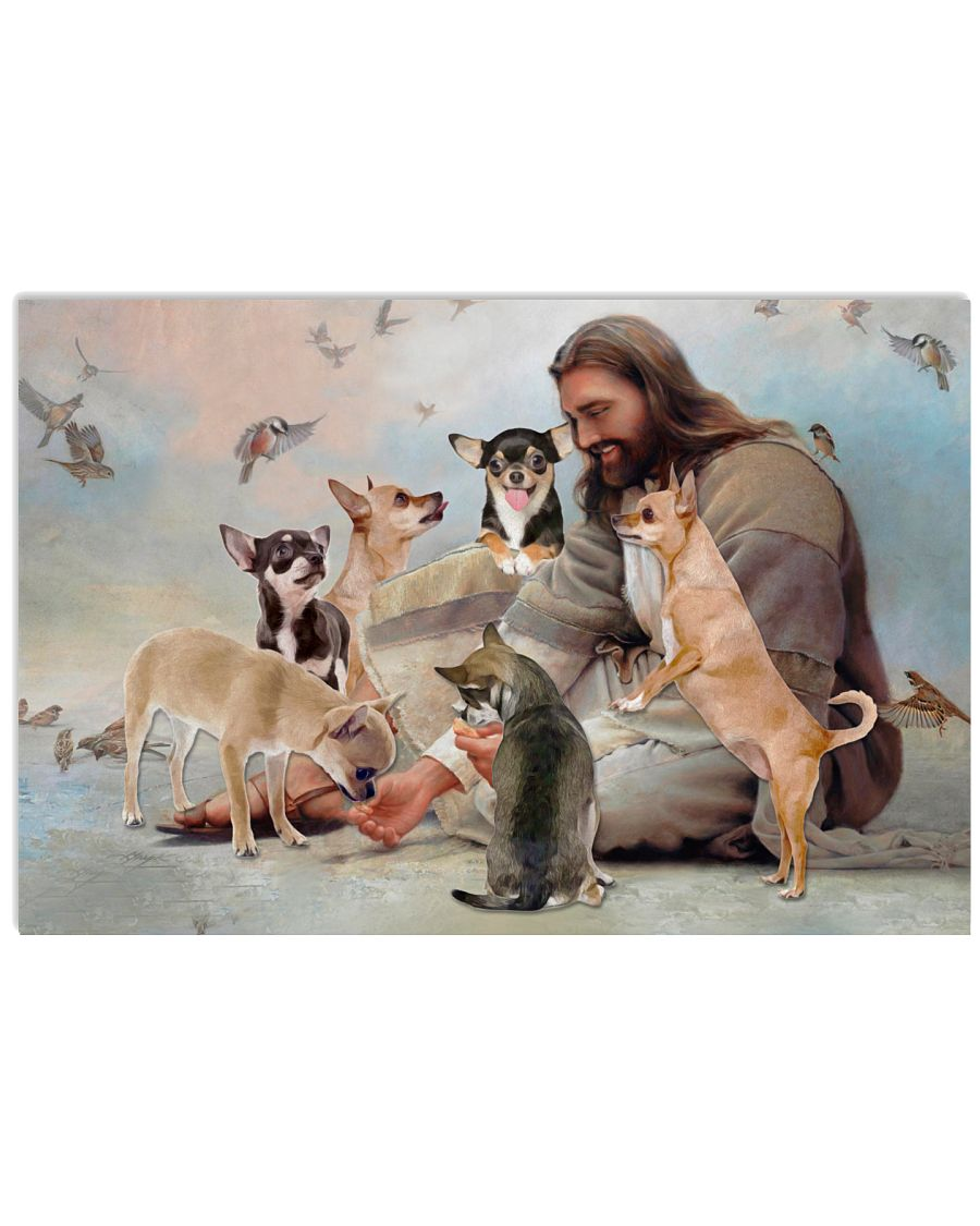 God surrounded by Chihuahua angels Gift for you Poster