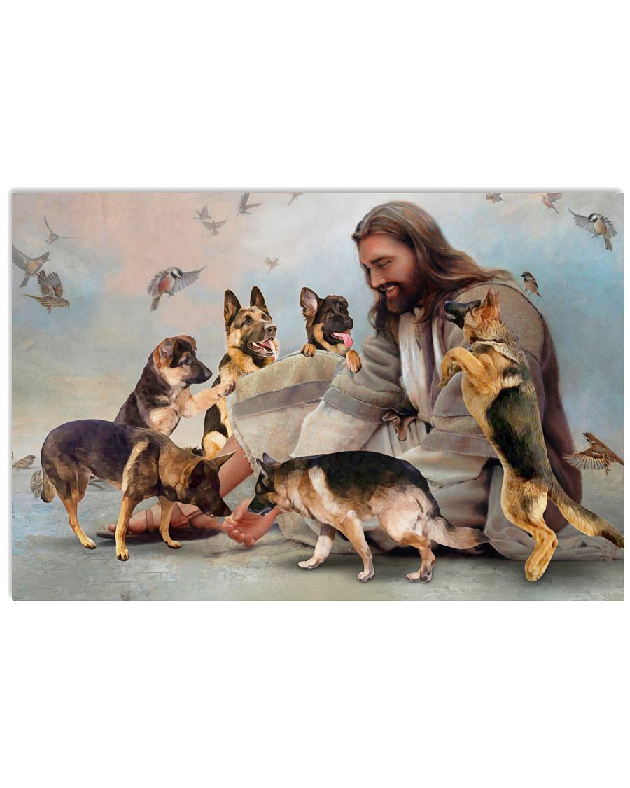 God surrounded by German Shepherd angel Gift for you Poster