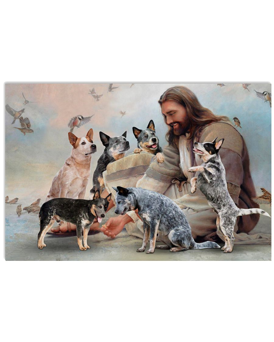 God surrounded by Heeler angels Gift for you Poster