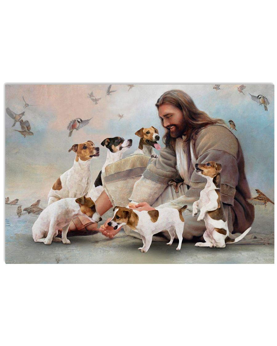 God surrounded by Jack Russell Poster as