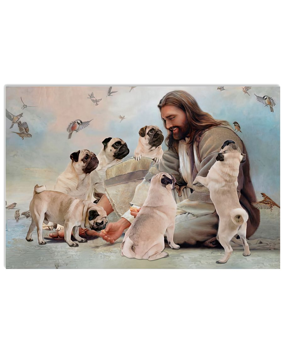 God surrounded by Pug angels Gift for you Poster as