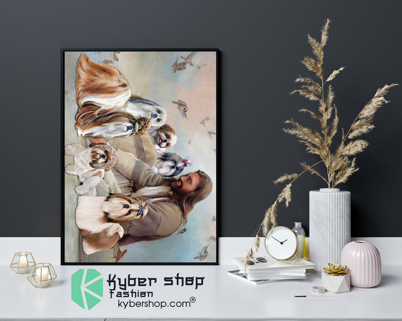God surrounded by Shih Tzu angel Gift for you Poster 4