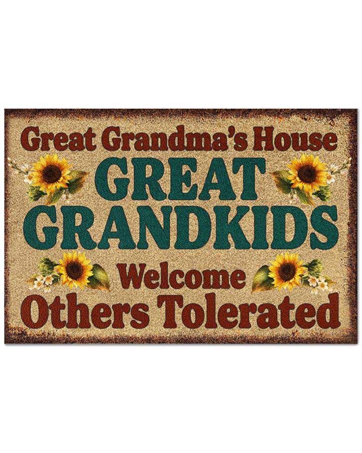 Great Grandmas House Great Grandkids Welcome Others Tolerated Doormat