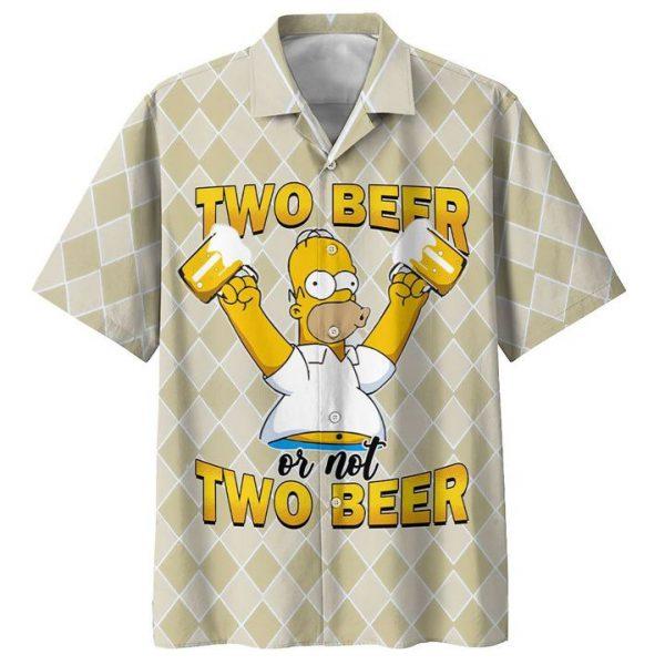 HOMER SIMPSON TWO BEER OR NOT TWO BEER PREMIUM HAWAIIAN SHIRT