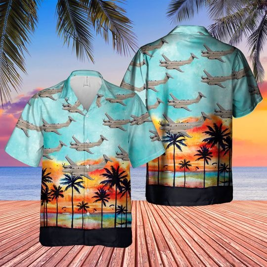 Hawker beechcraft shadow rs1 hawaiian shirt 1