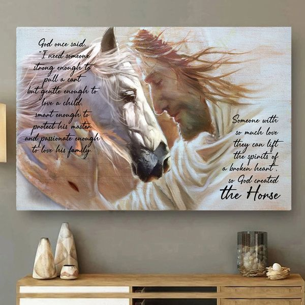 Horse god once said I need someone strong enough to poster