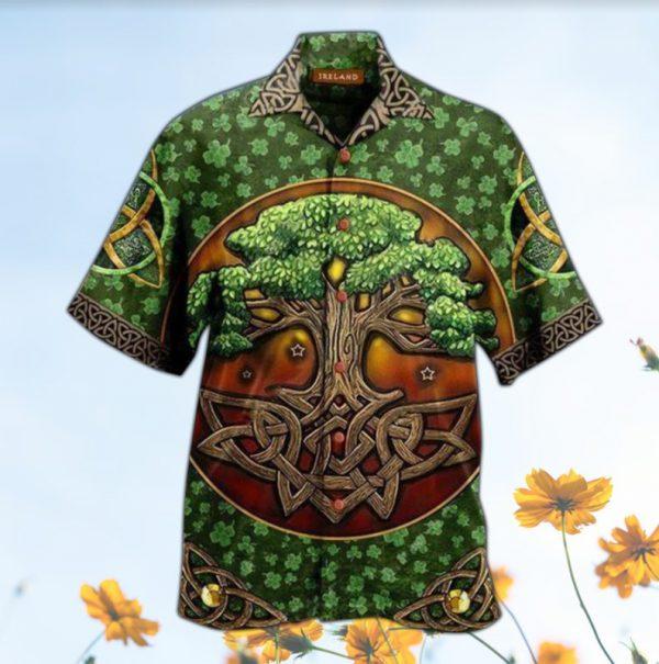 Irish tree hawaiian shirt