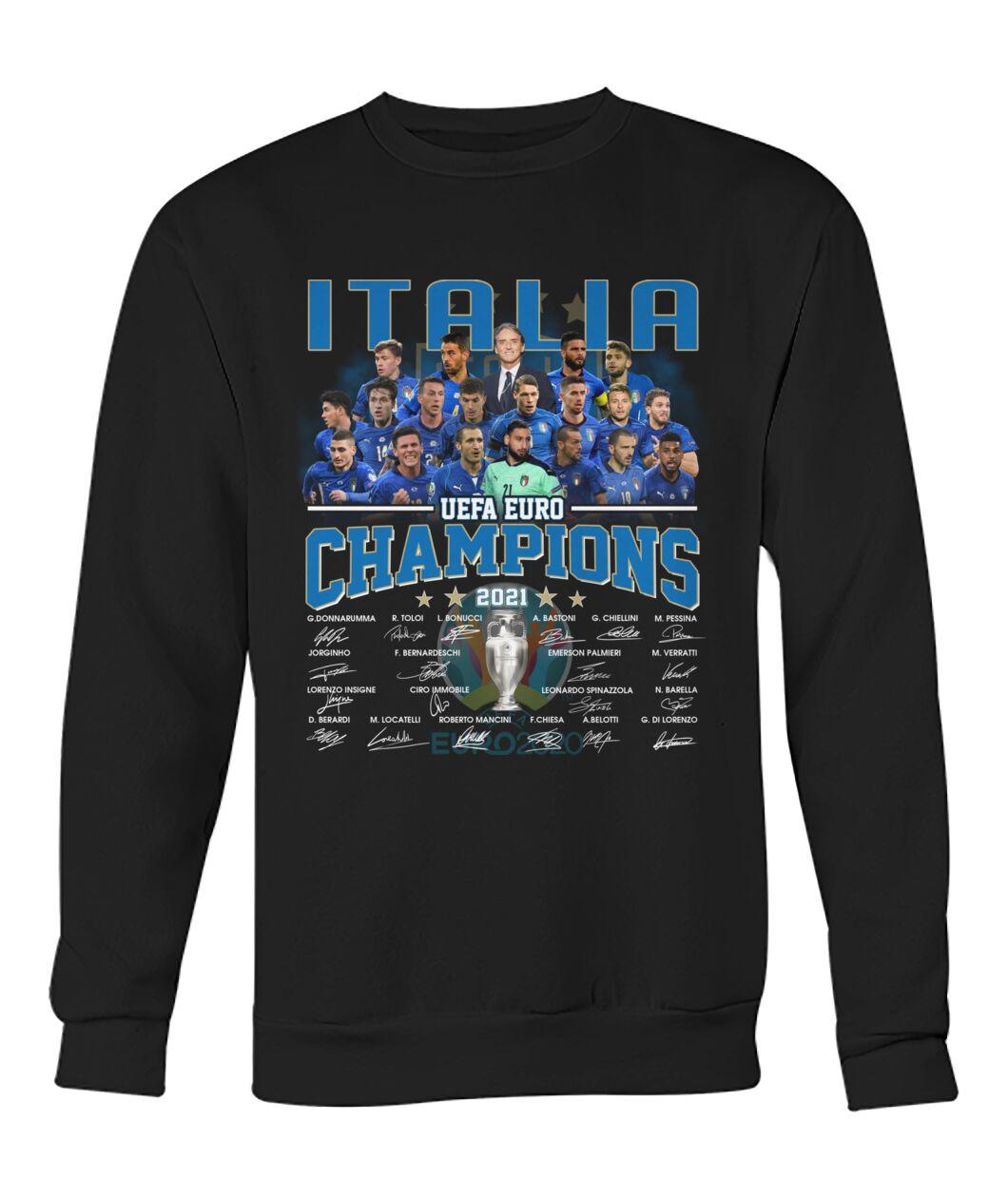Italia UEFA Euro Champions signatures shirt hoodie 11