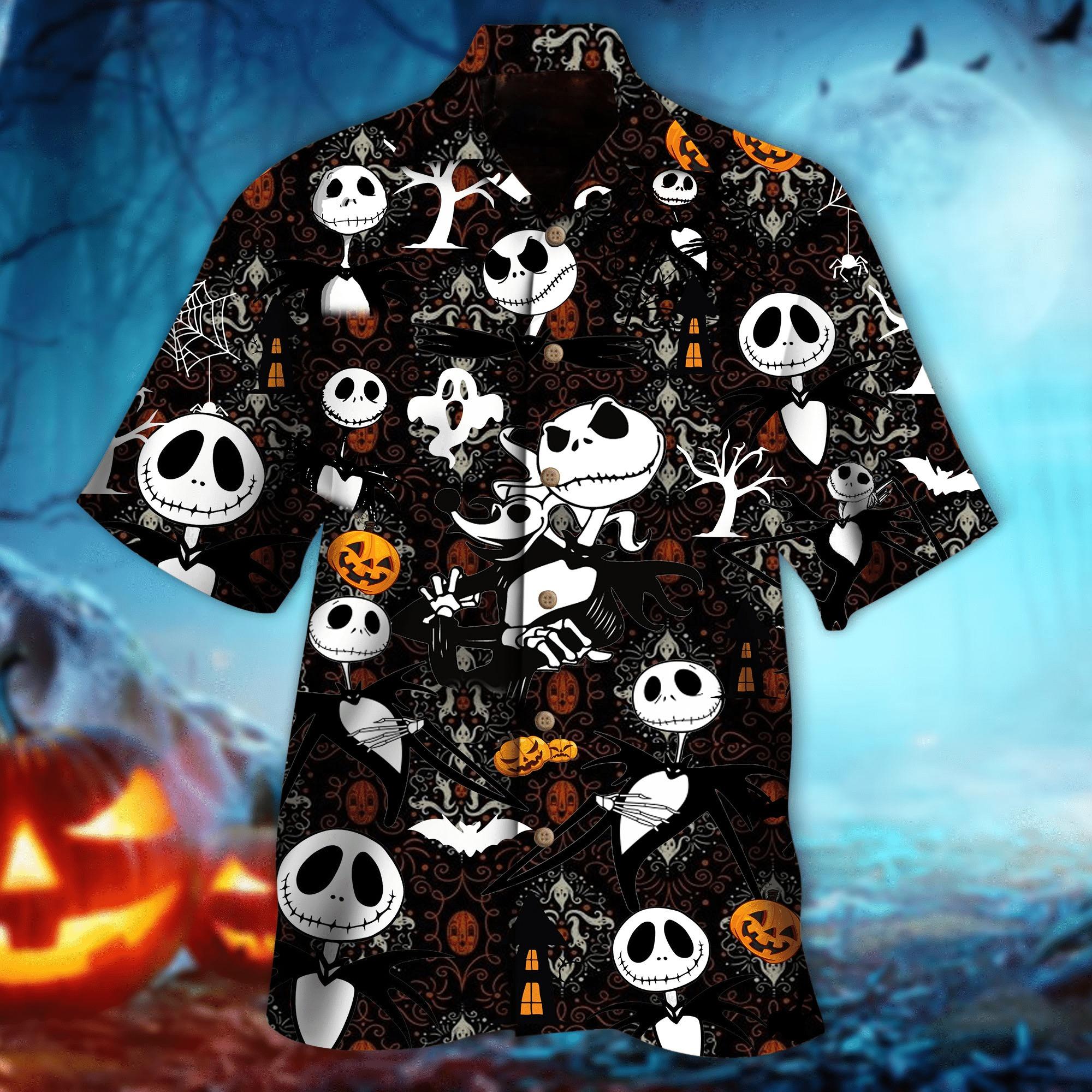Jack Skellington Halloween hawaiian shirt