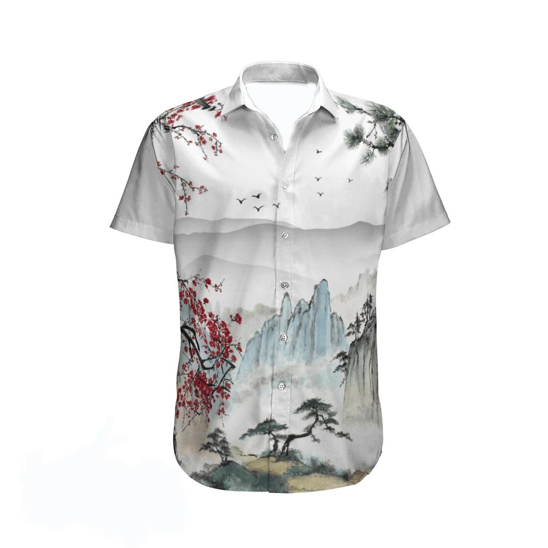 Japanese Aesthetic Sakura Cherry Blossom Hawaiian Shirt1