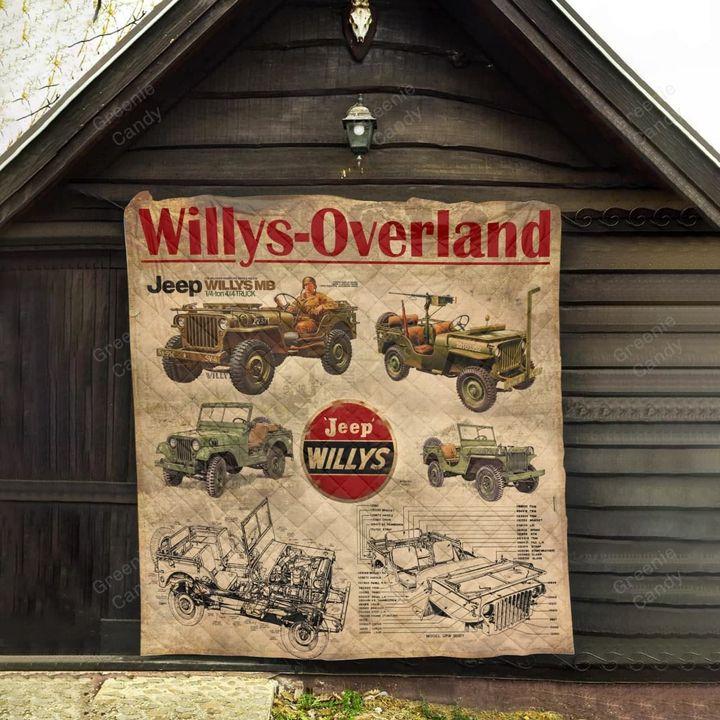 Jeep willys overland vintage blanket 1