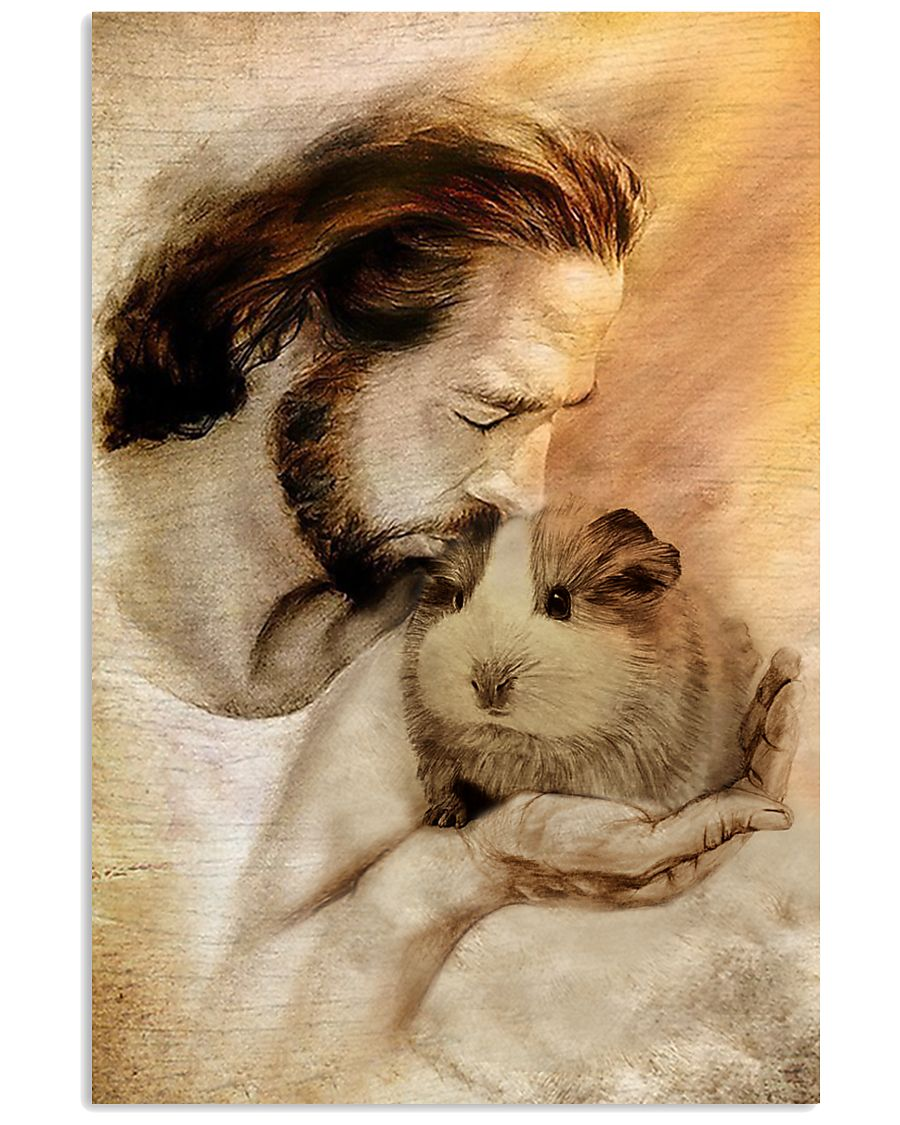 Jesus with Guinea pig poster as 1