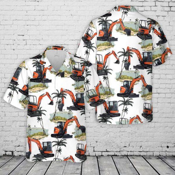 Kubota Excavator Hawaiian Shirt