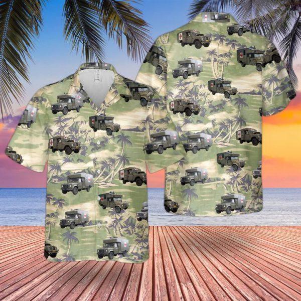 Land Rover Battle Field Ambulance Hawaiian Shirt and short
