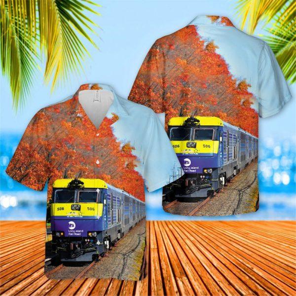 Long Island Rail Road EMD DM30AC Hawaiian Shirt