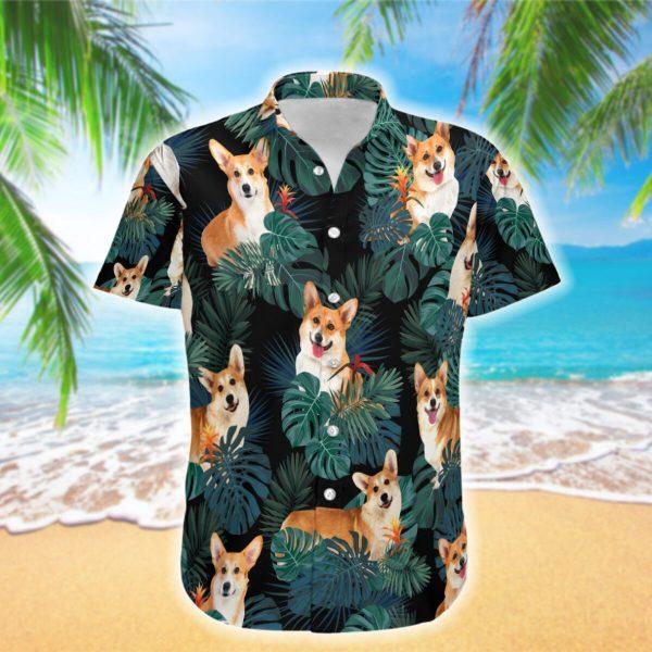 Love Corgi Hawaiian Shirt