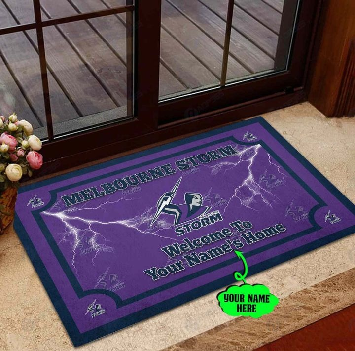 Melbourne Storm Personalized welcome to home Doormat