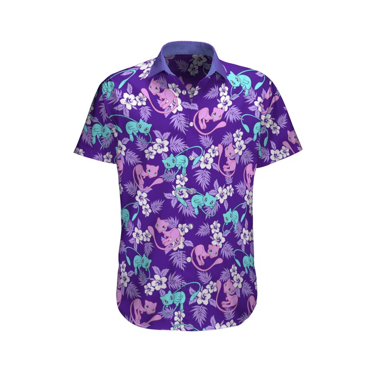 Mew Pokemon Hawaiian Shirt