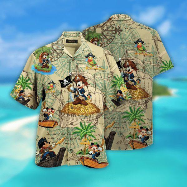 Mickey mouse Pirates hawaiian shirt cloud