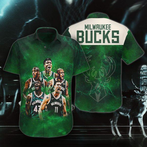 Milwaukee Bucks hawaiian shirt