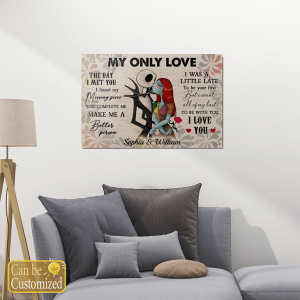 My Only Love The Day I Met You Custom Name Canvas